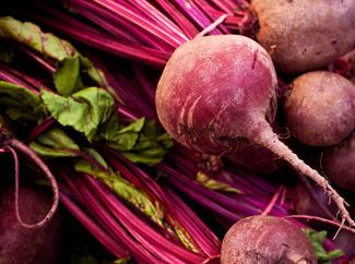 image: A photograph of beets.