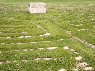 image: A photograph of a labyrinth.