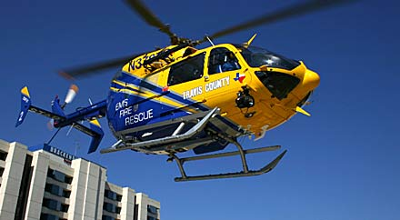 image: A photograph of the EMS Star Flight helicopter.